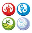 fire and water icons vector image
