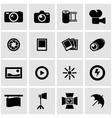 black photo icon set vector image