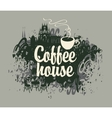 coffee house with a cup vector image