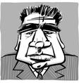 dour man in suit vector image