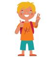 Schoolboy character character vector image