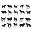 set of dogs silhouettes-4 vector image