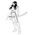 Warrior Woman vector image
