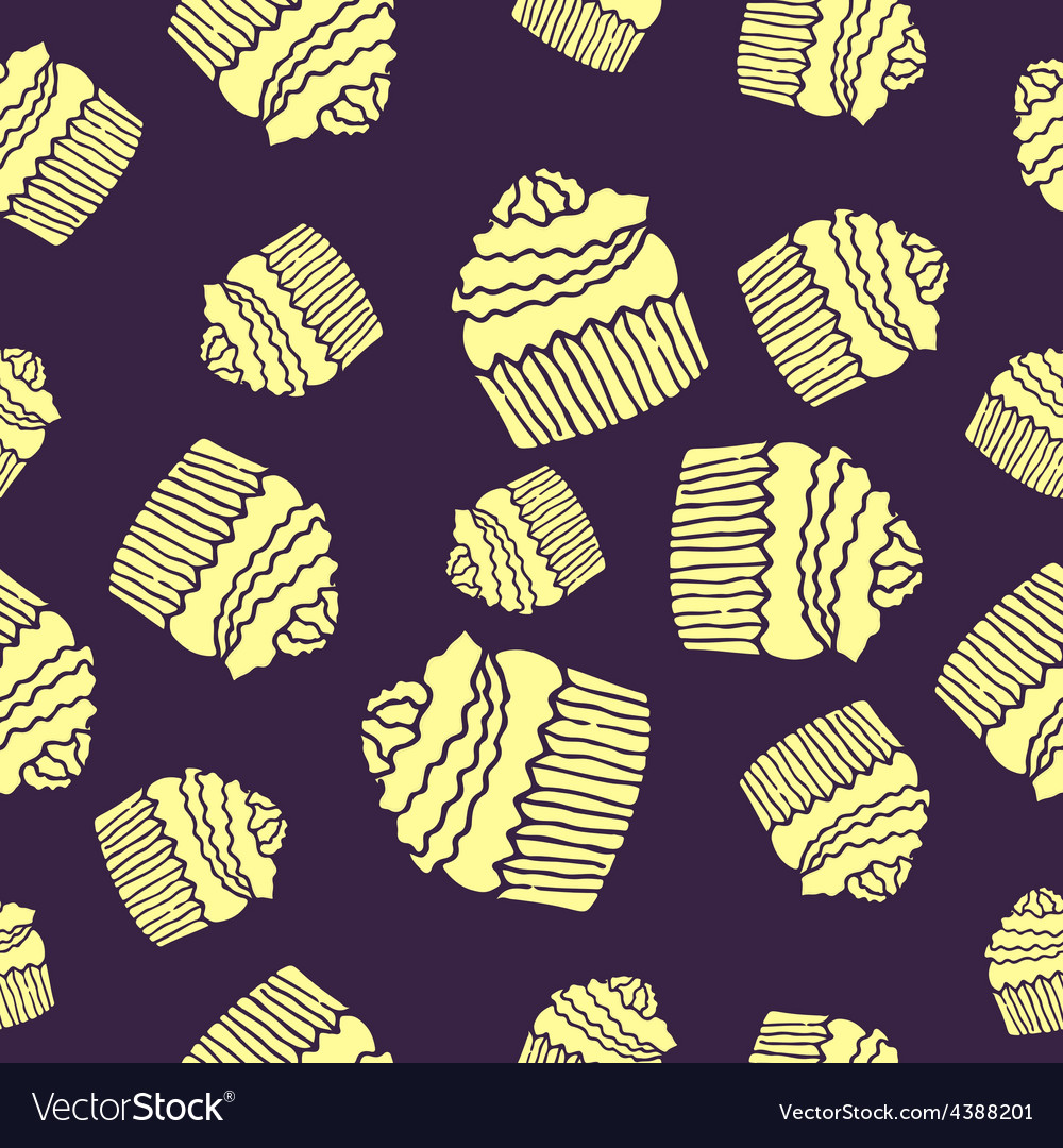 Purple cake pattern vector