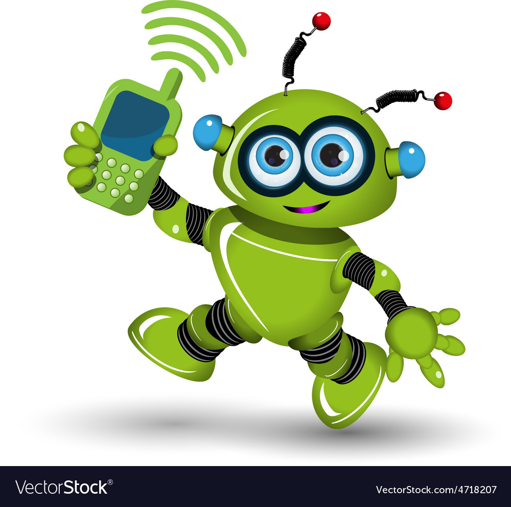 Robot with telephone vector