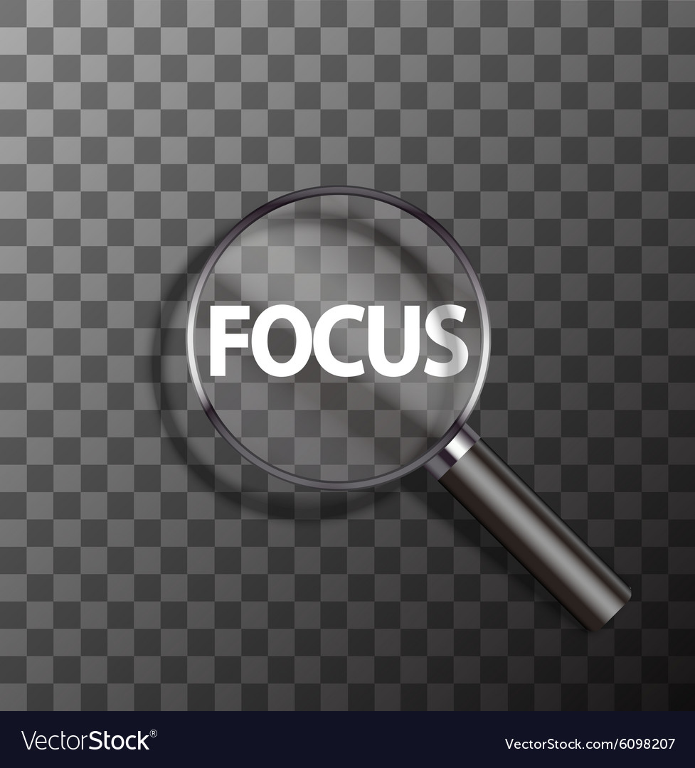 Word in magnifying glass vector