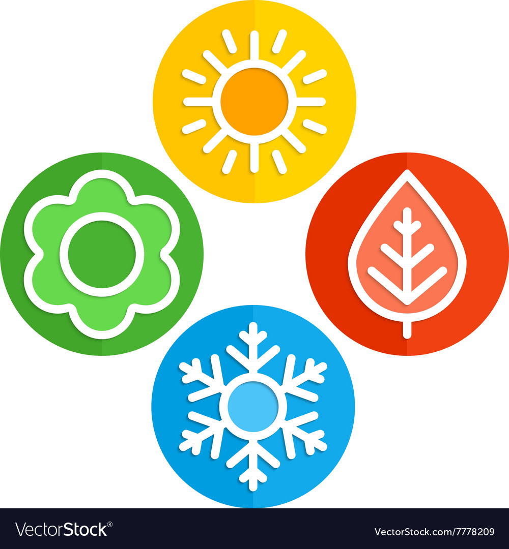 Icons seasons vector