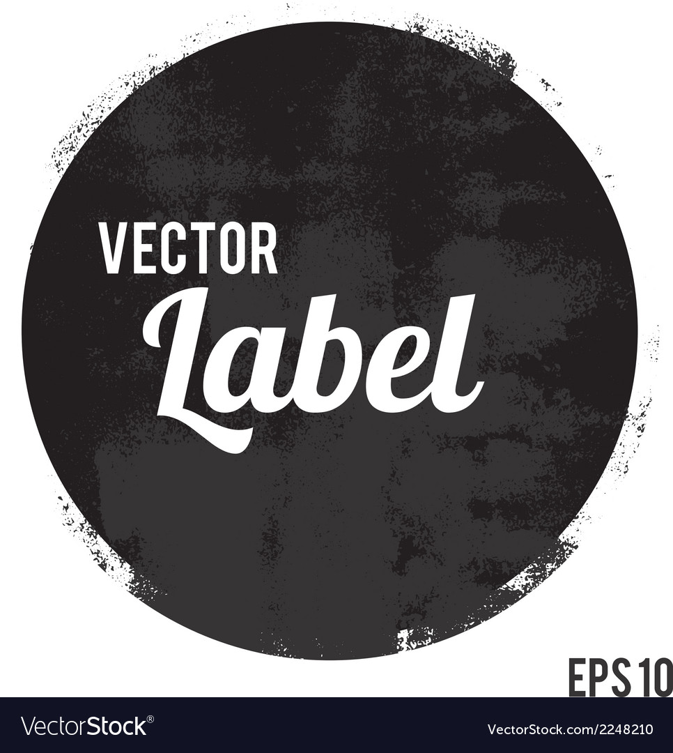 Round grunge design element vector