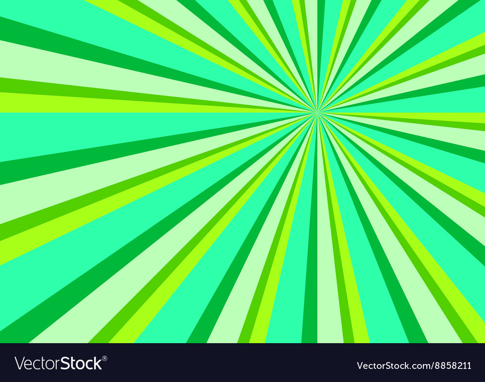 Light ray burst abstract background green vector
