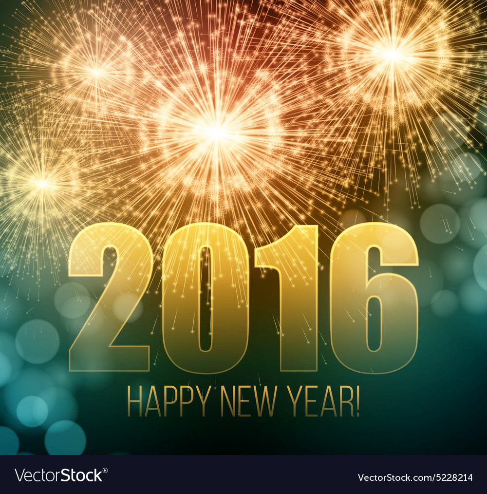 2016 new year made a sparkler vector