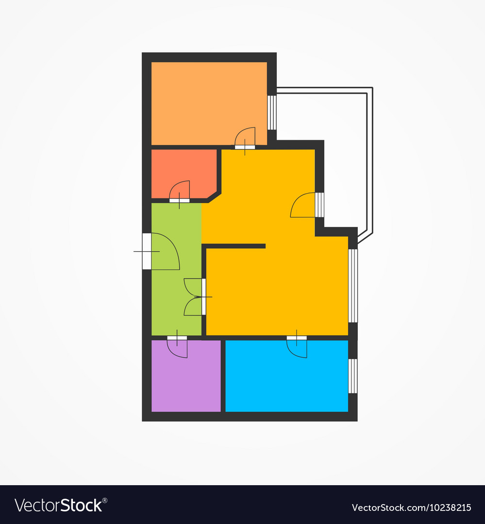 Colorful flat plan vector