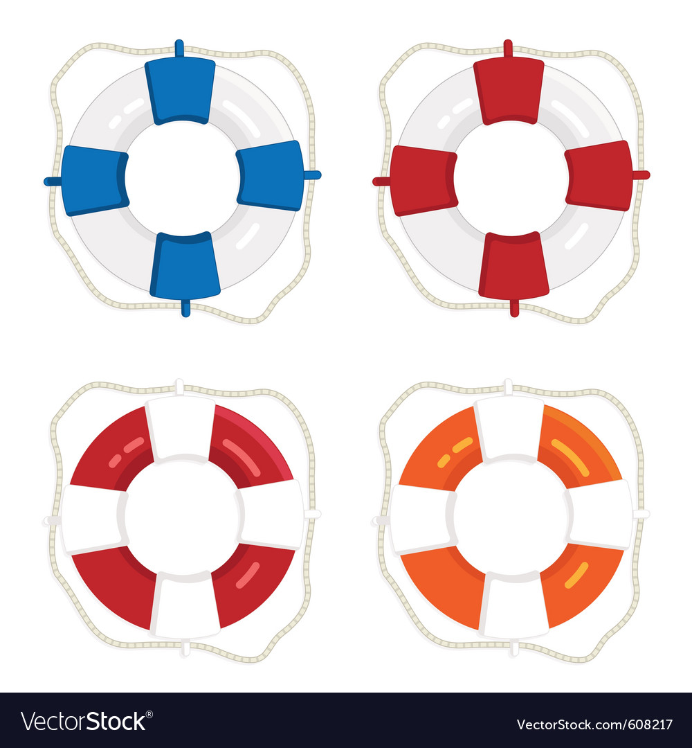 Life saver rings vector