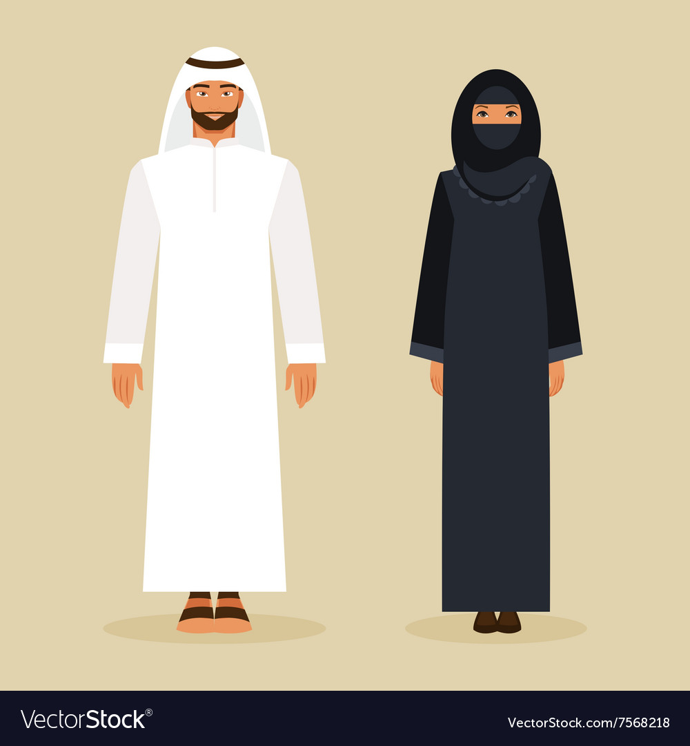 Arabs in the national costume vector