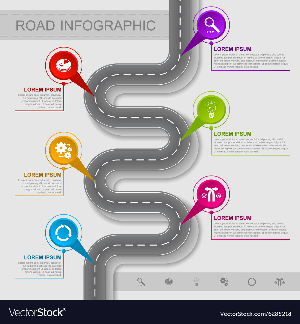 Best road infographic vector