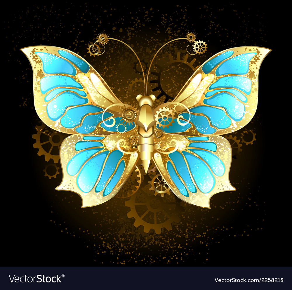 Mechanical butterfly vector