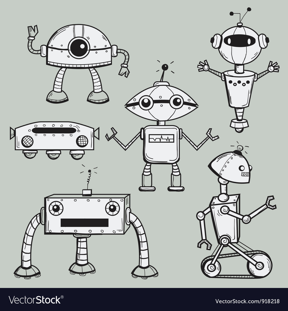 Robots collection vector