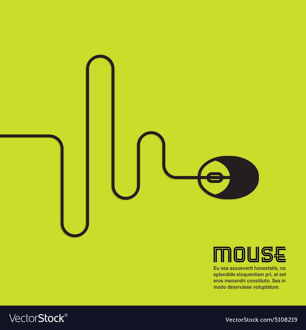 Line in the form of a computer mouse vector