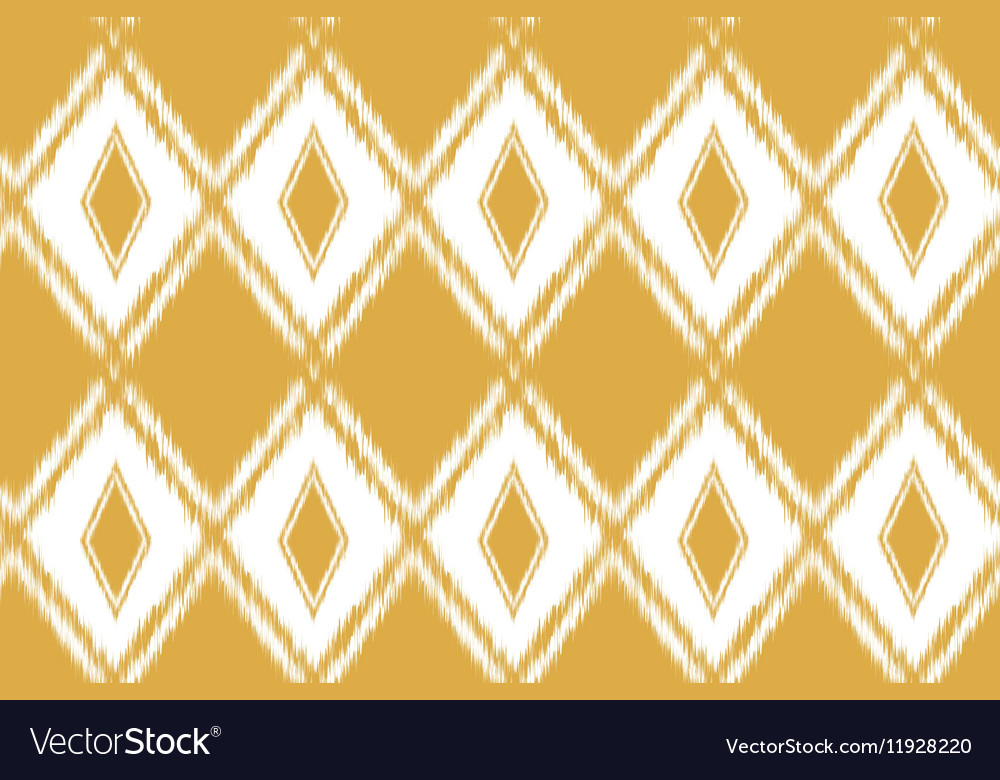 Seamless pattern tribal art ikat vector