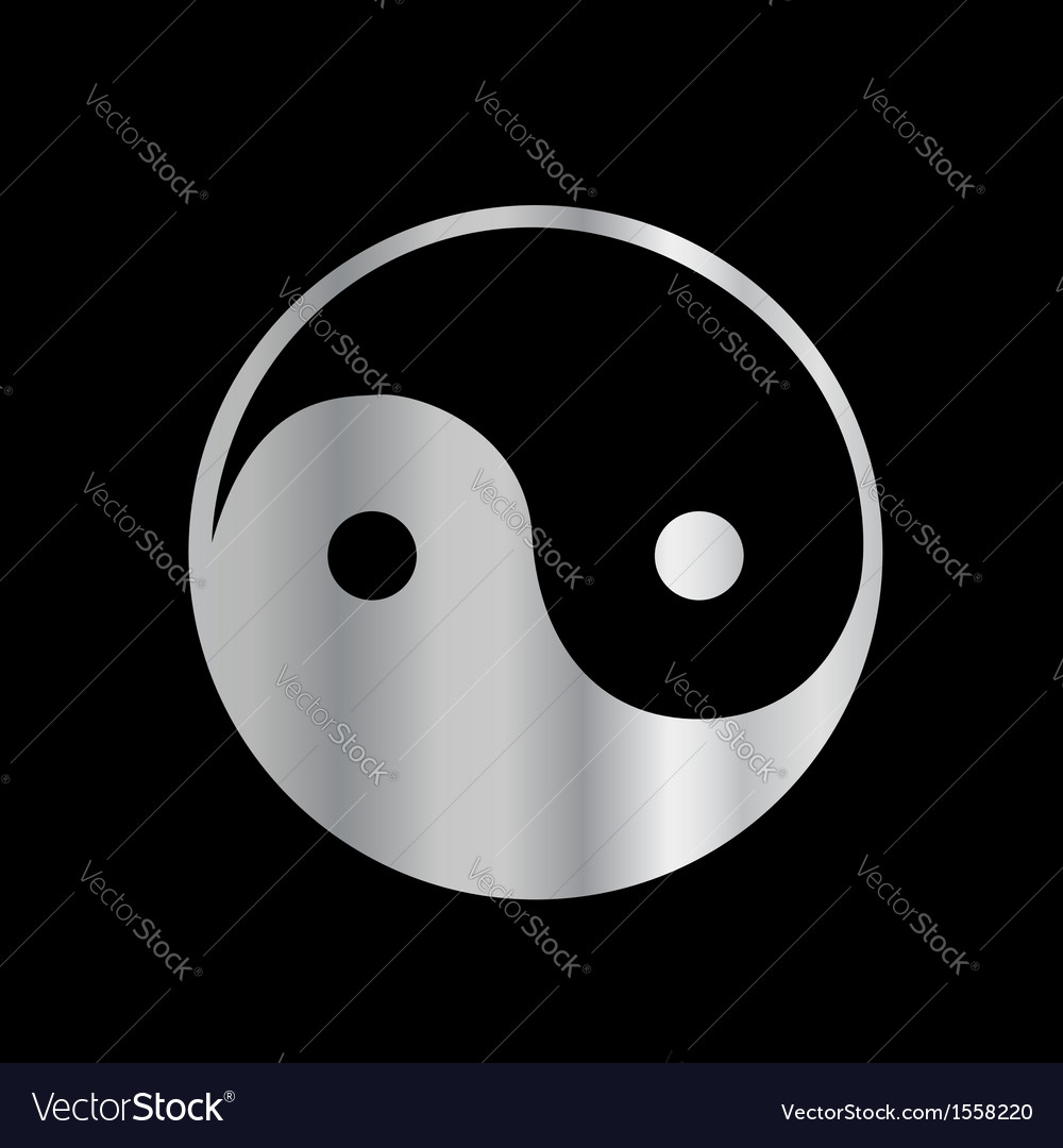 Ying and yang religious icon vector