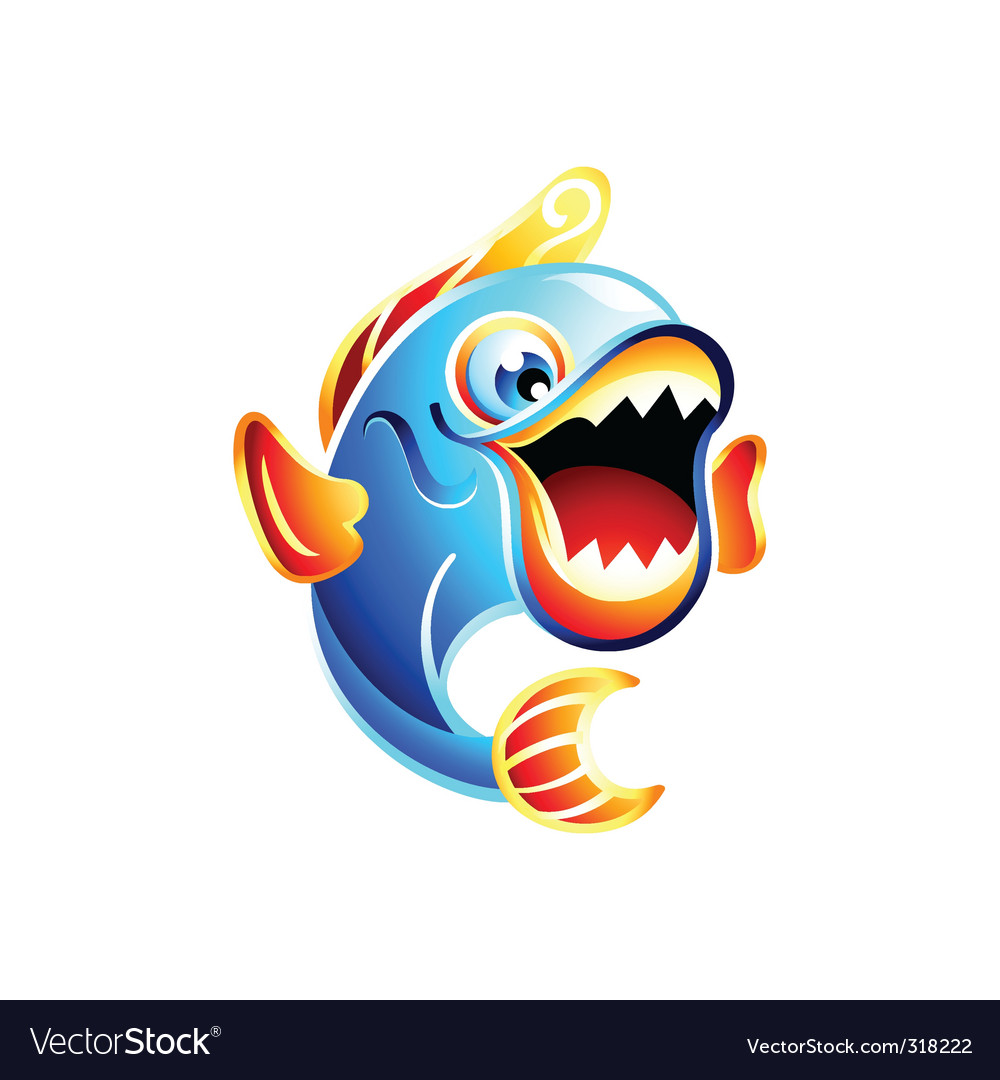 Fun fish vector