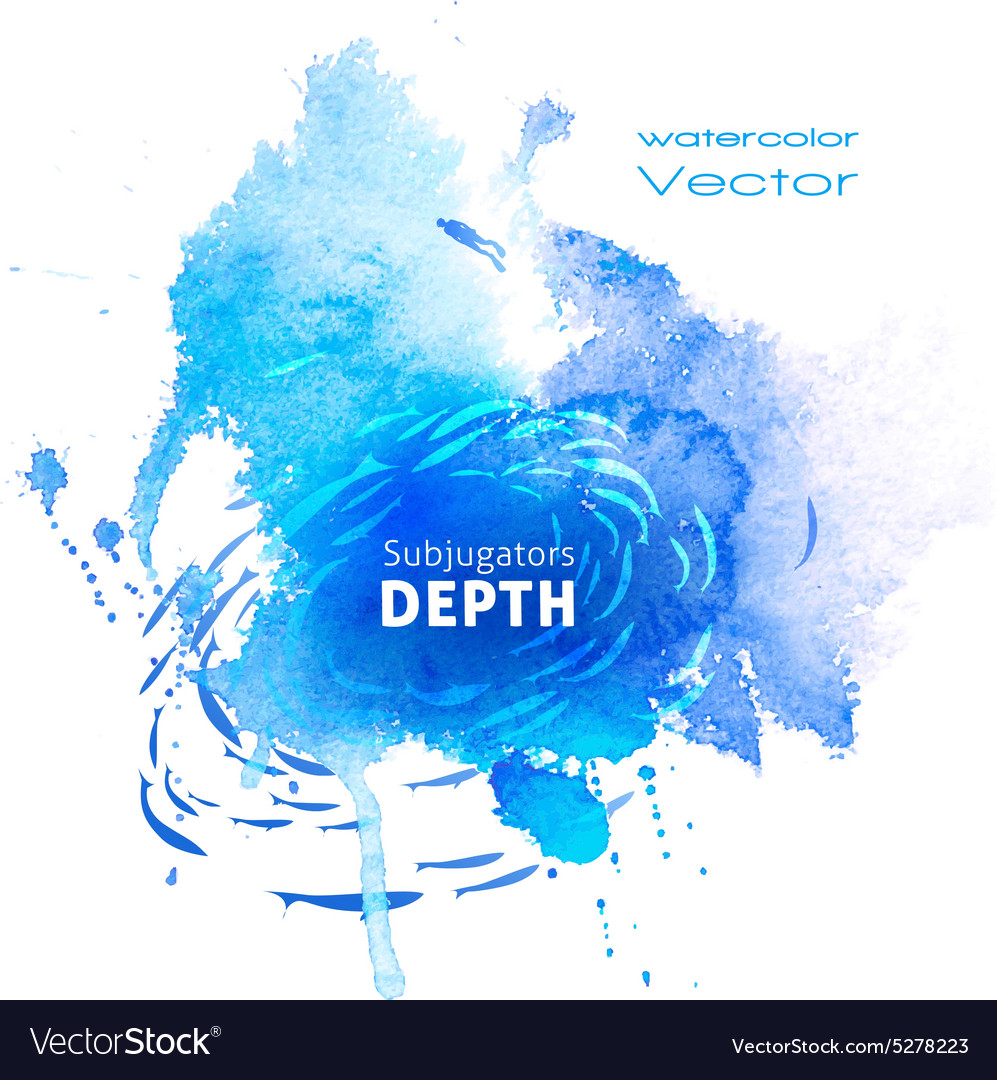 Watercolor blue texture vector