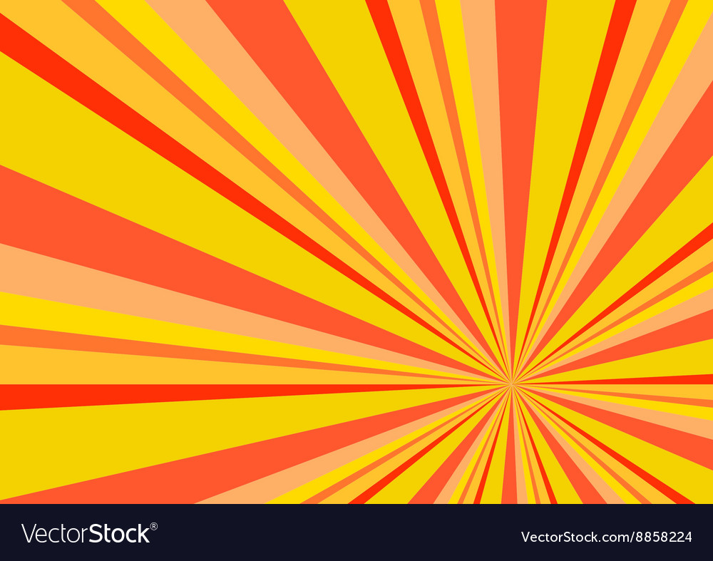 Light ray burst abstract background orange vector