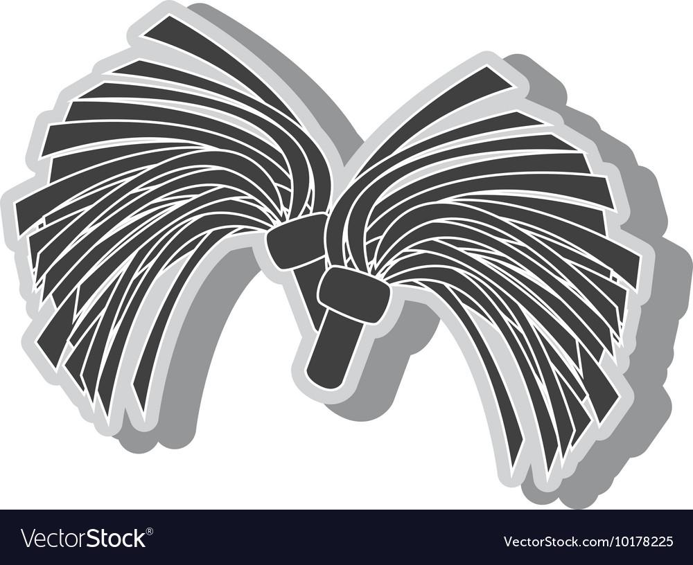 Cheerlader pom symbol icon vector