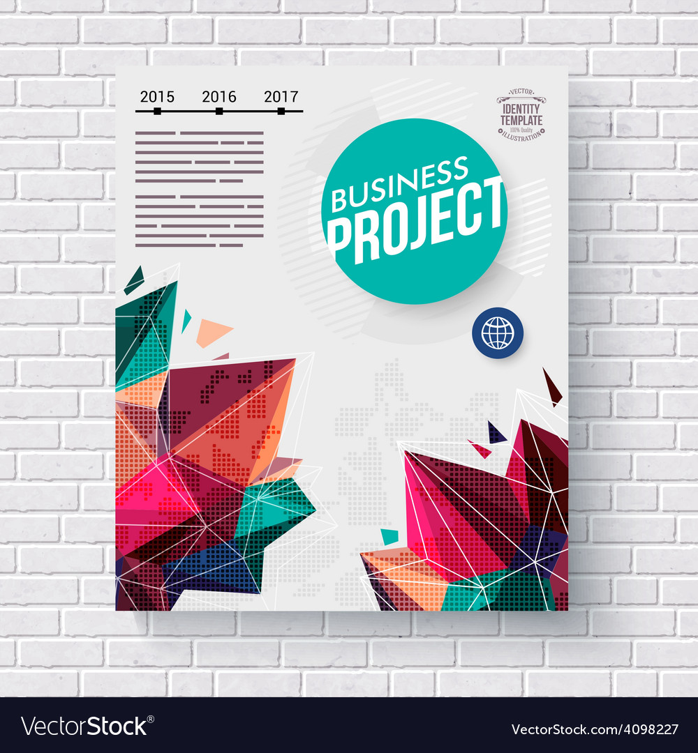 Business project infographic template vector