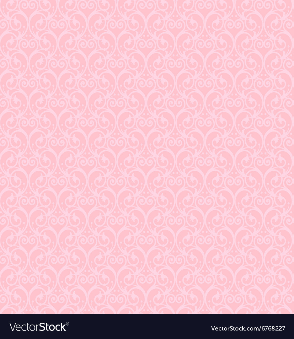 Pink decorative pattern vector