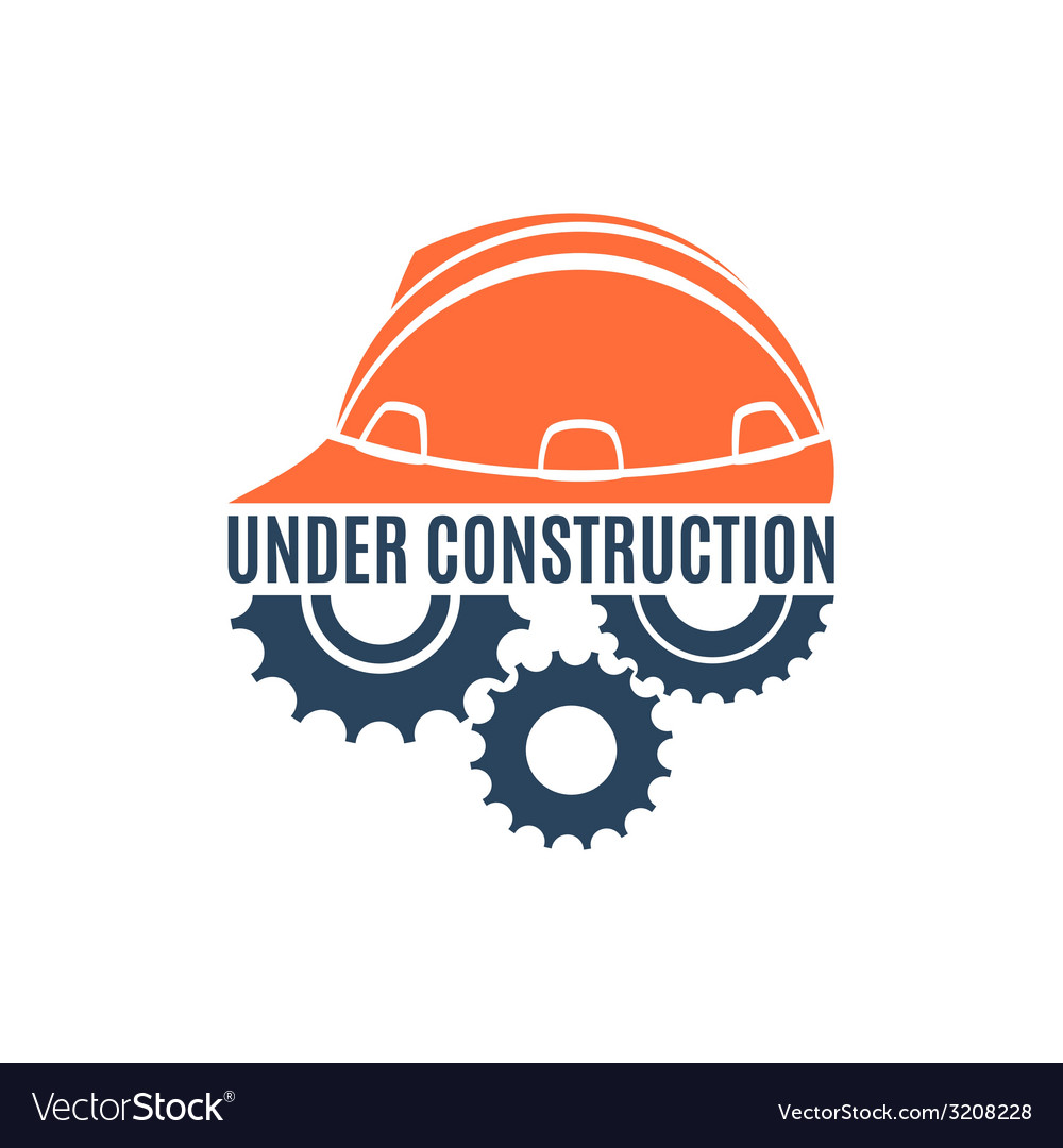 Under construction conceptual logo vector