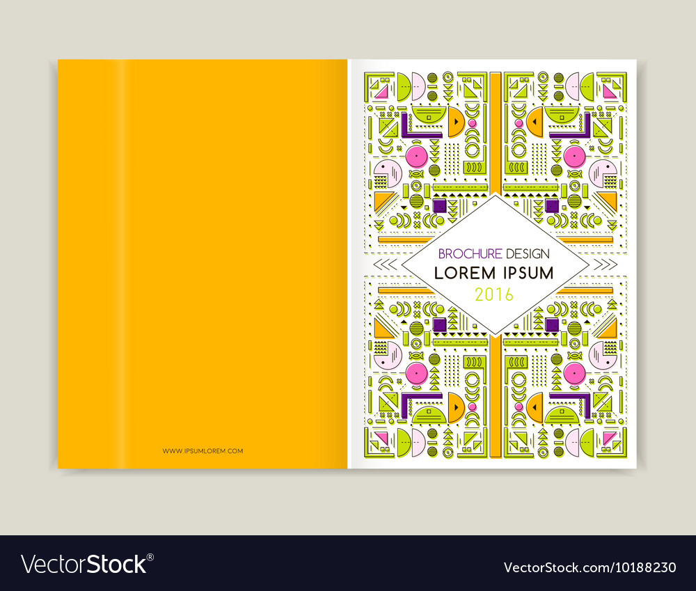 Cover design for brochure leaflet flyer modern vector