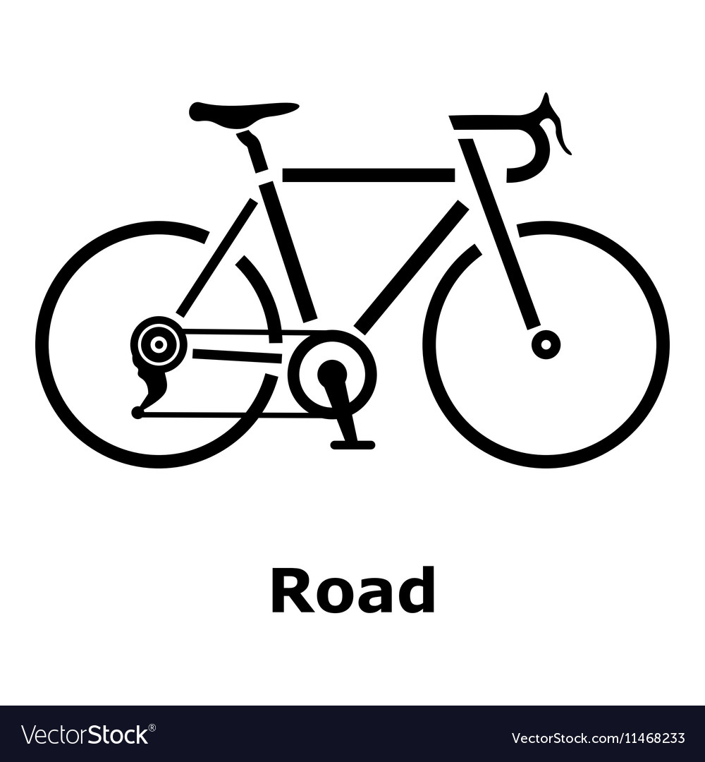 Road bike icon simple style vector