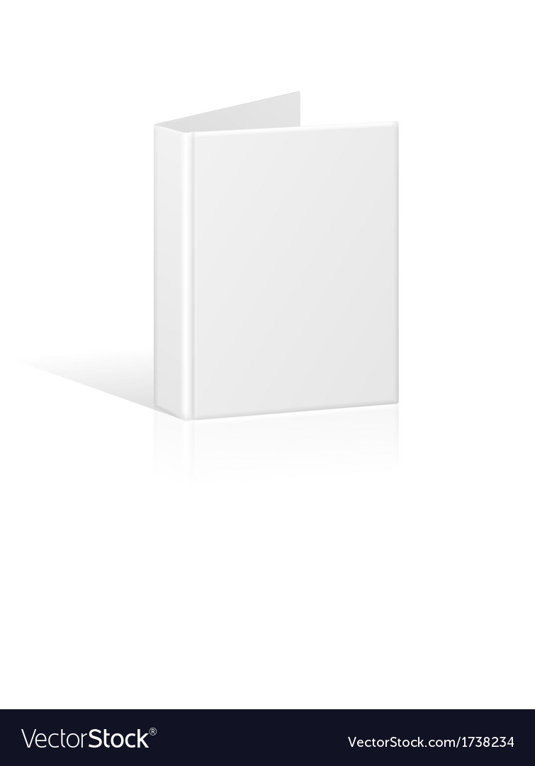 Blank book cover binder or folder template vector