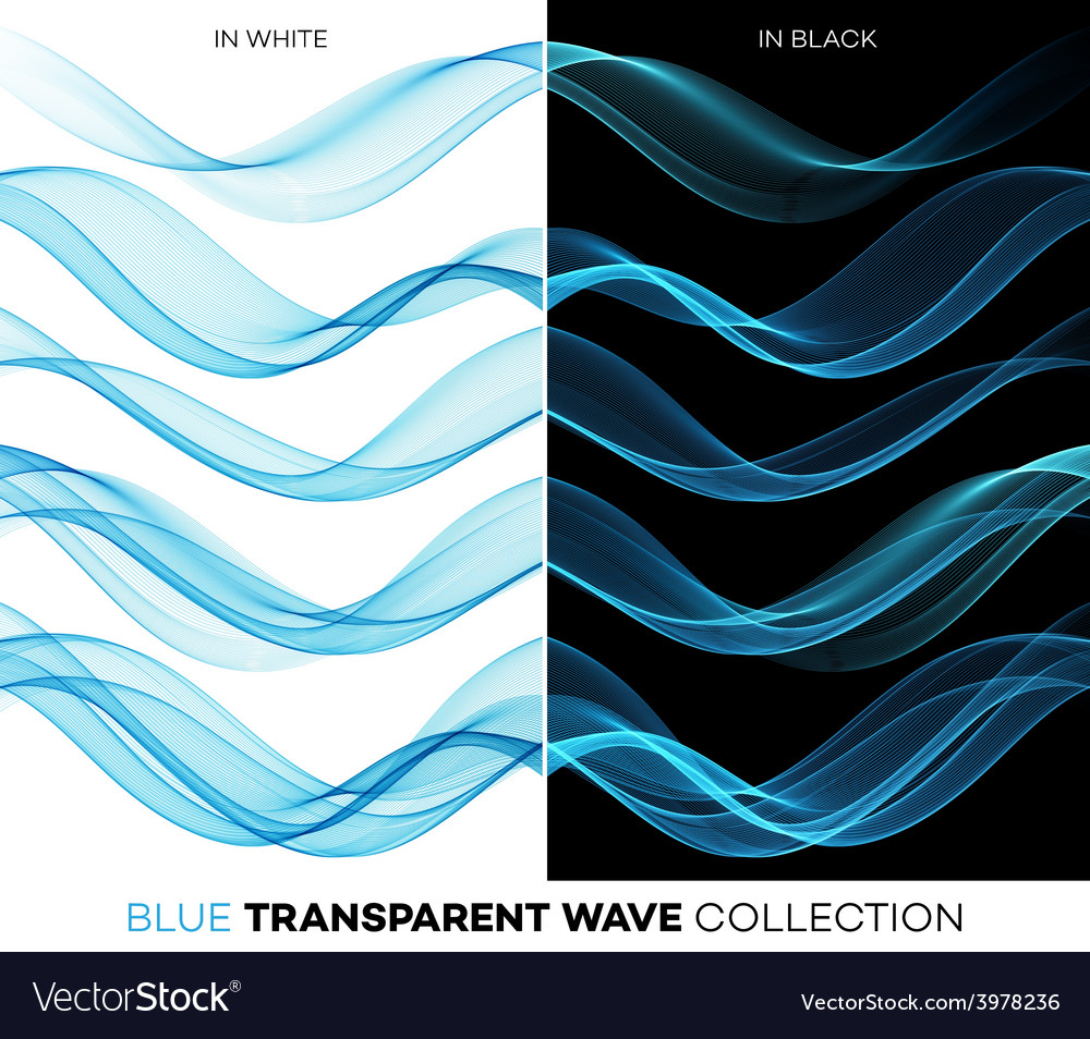 Set of color transparent smoky wave vector