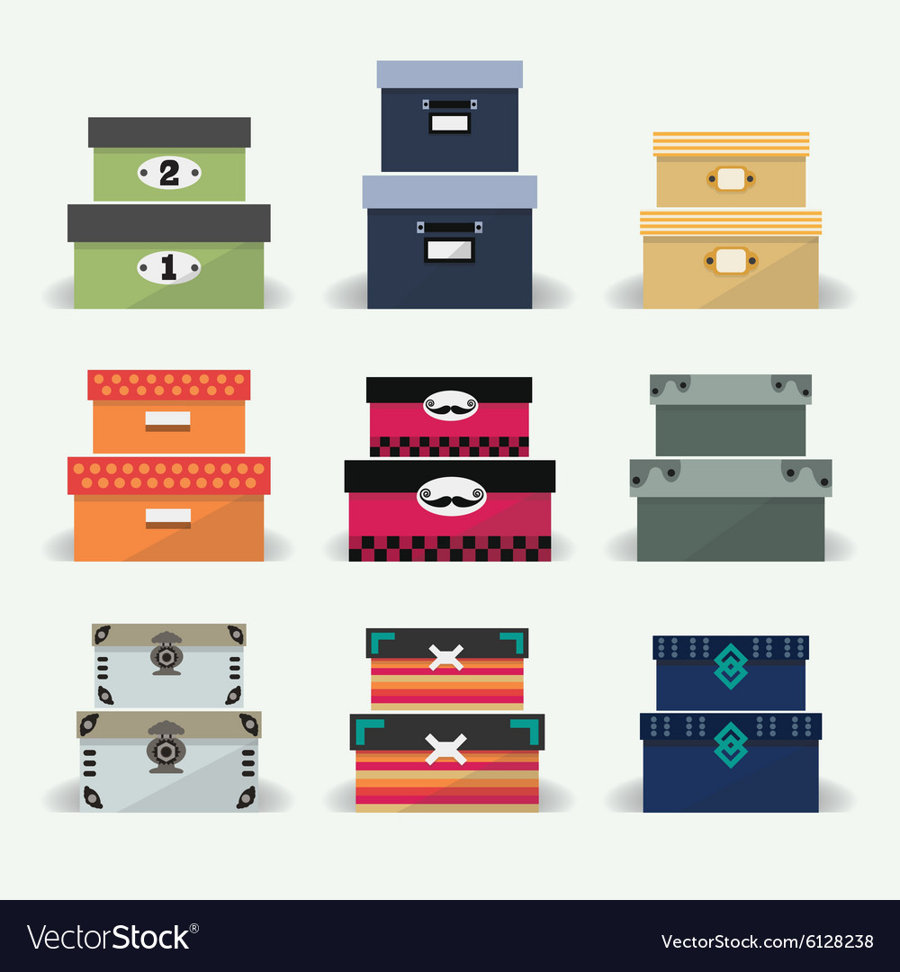 Office stationery icon set vector