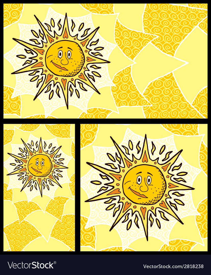 Sun backgrounds vector