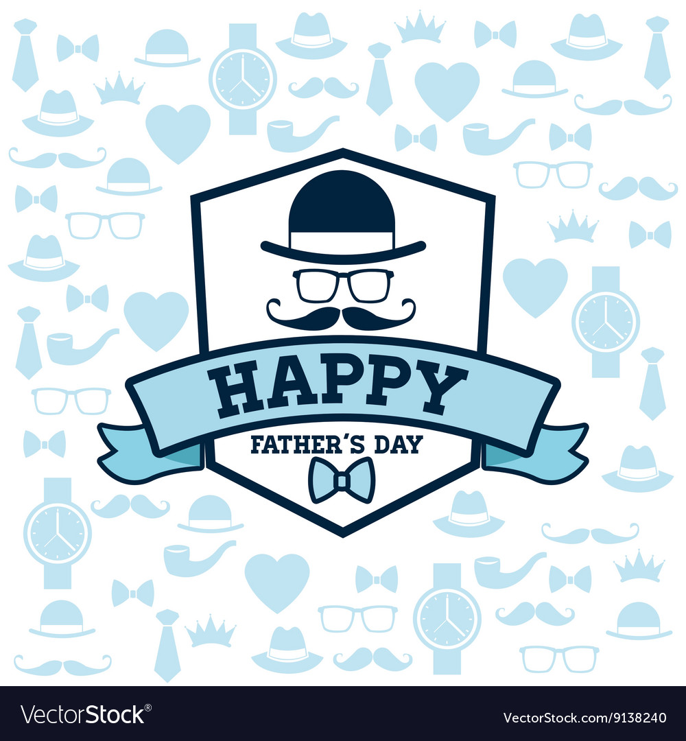 Happy fathers day design vintage icon colorful vector