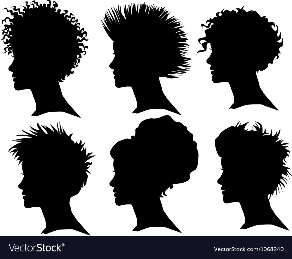 Woman silhouette profile vector