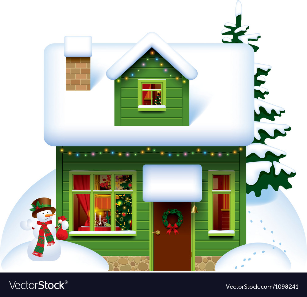 Christmas house vector