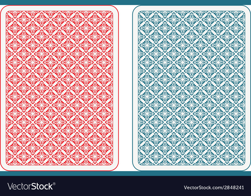 Playing cards back alfa vector