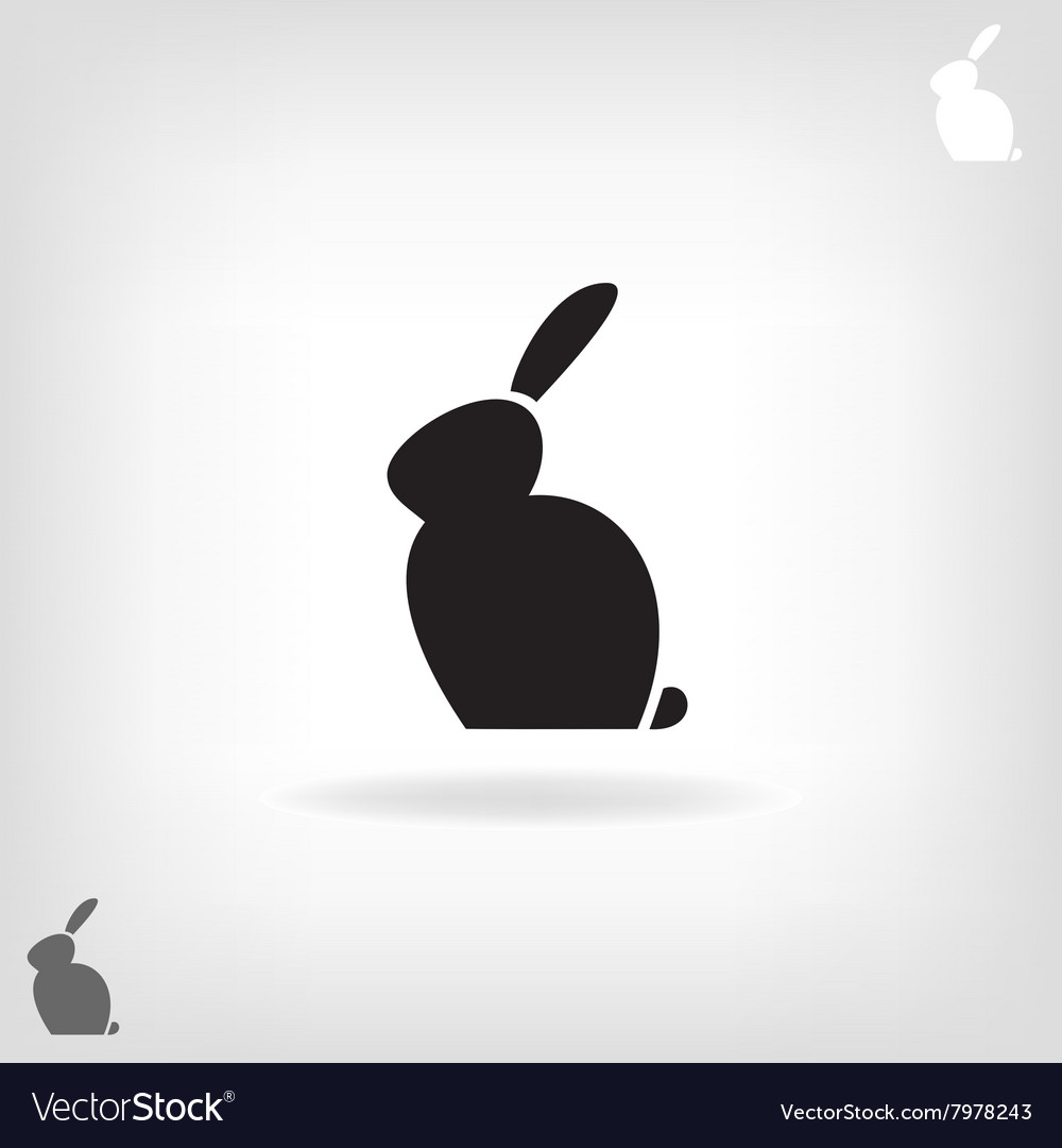 Black stylized silhouette of a rabbit vector