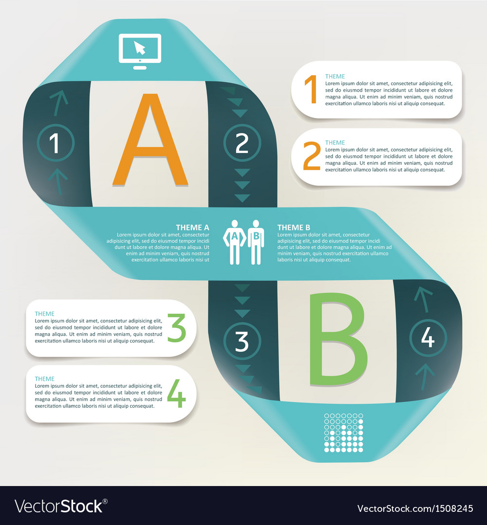 Infographic  process comparison of categories vector