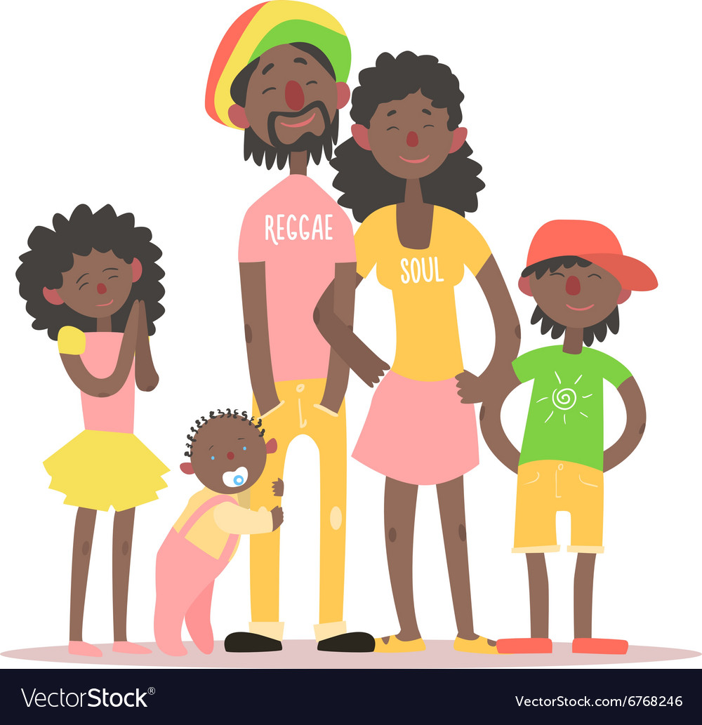 African family vector