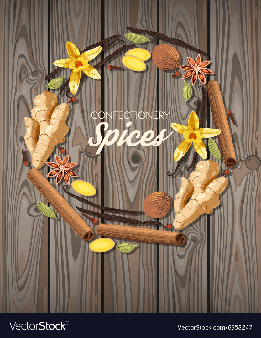 Confectionery spices vector