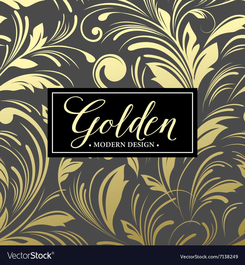 Luxury seamless background with gold frame vector