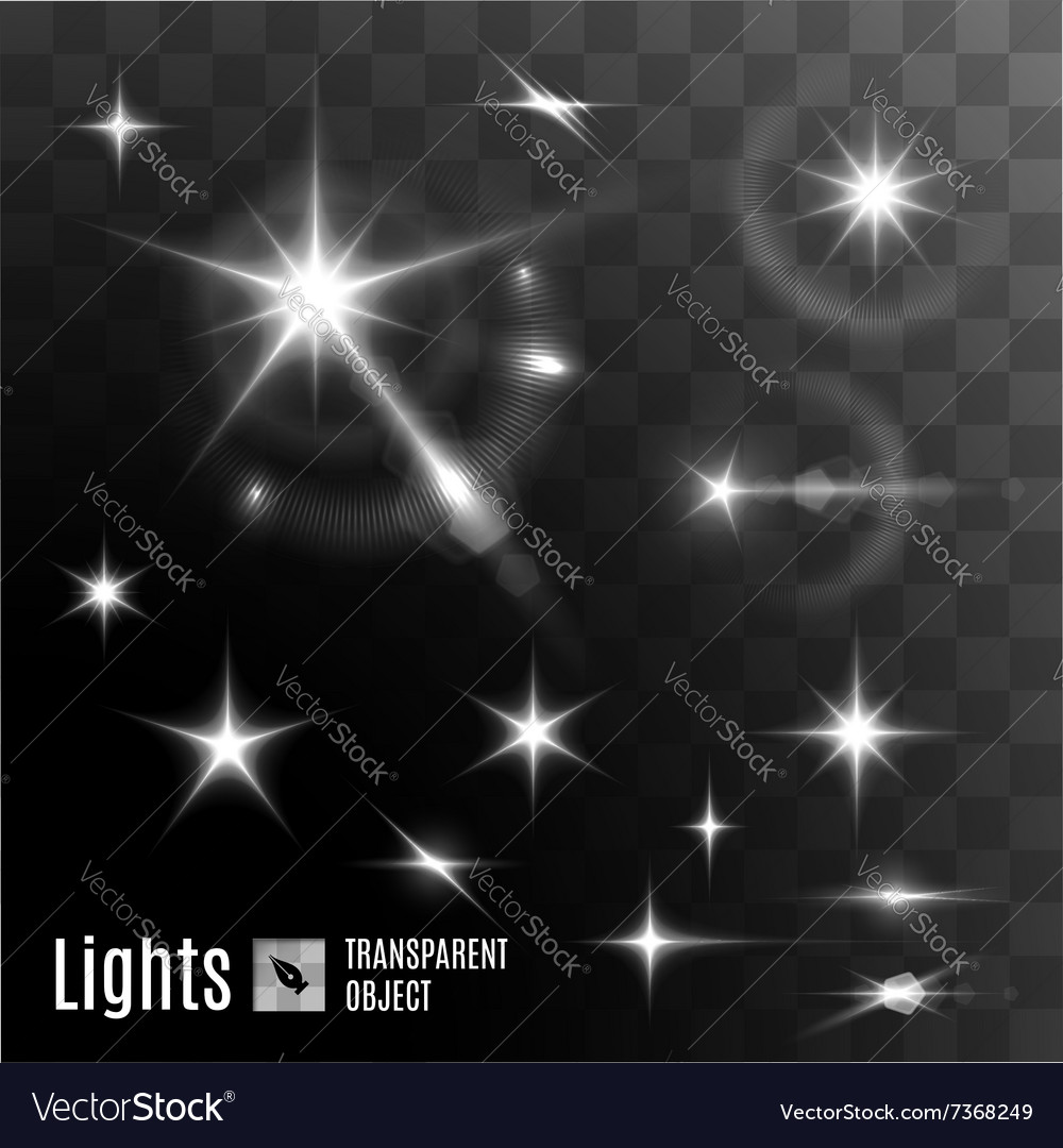 Star bokeh bright vector