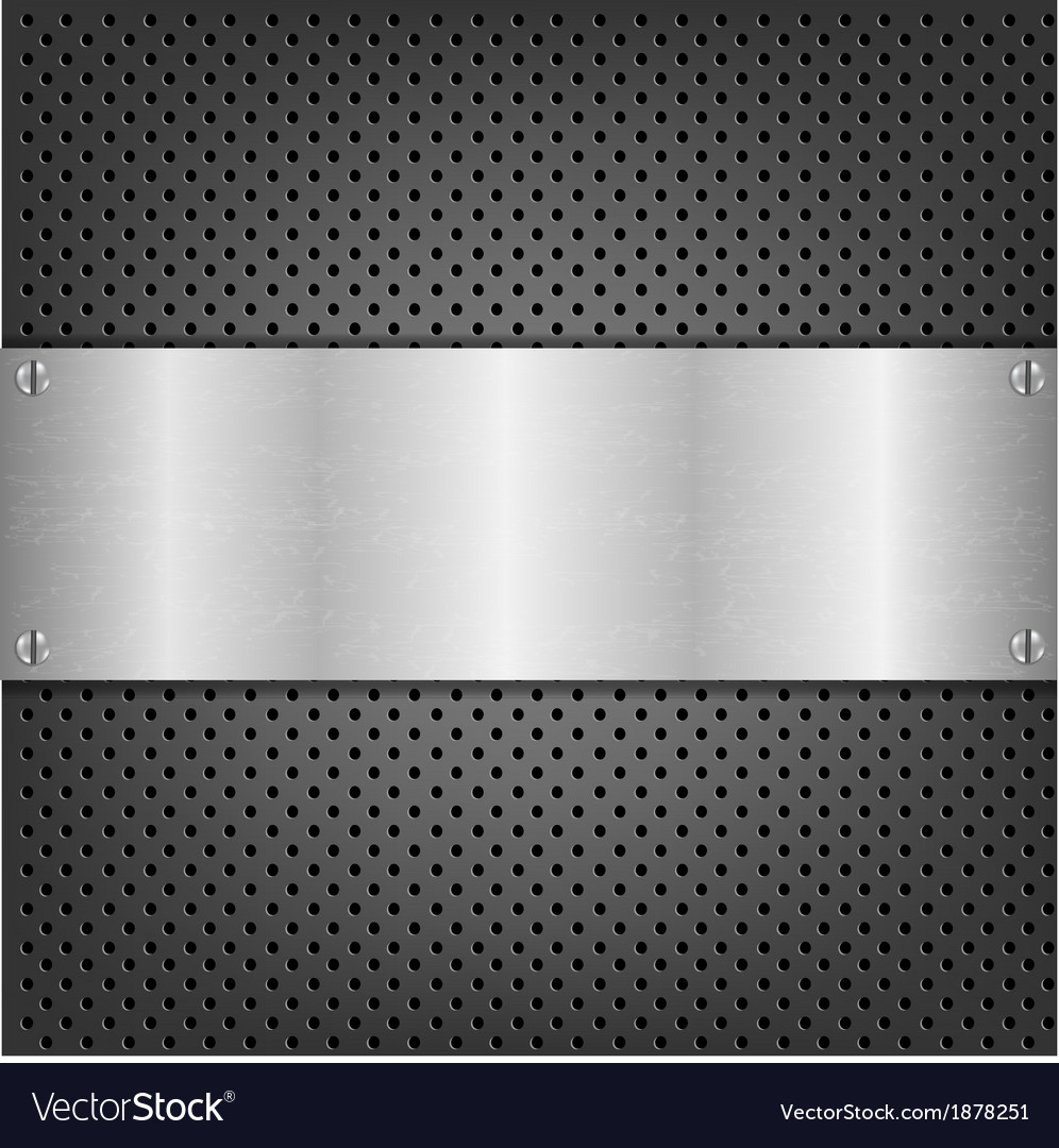 Background with metal plate vector