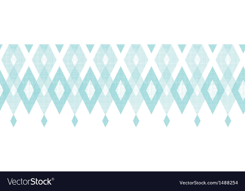 Pastel blue fabric ikat diamond horizontal vector