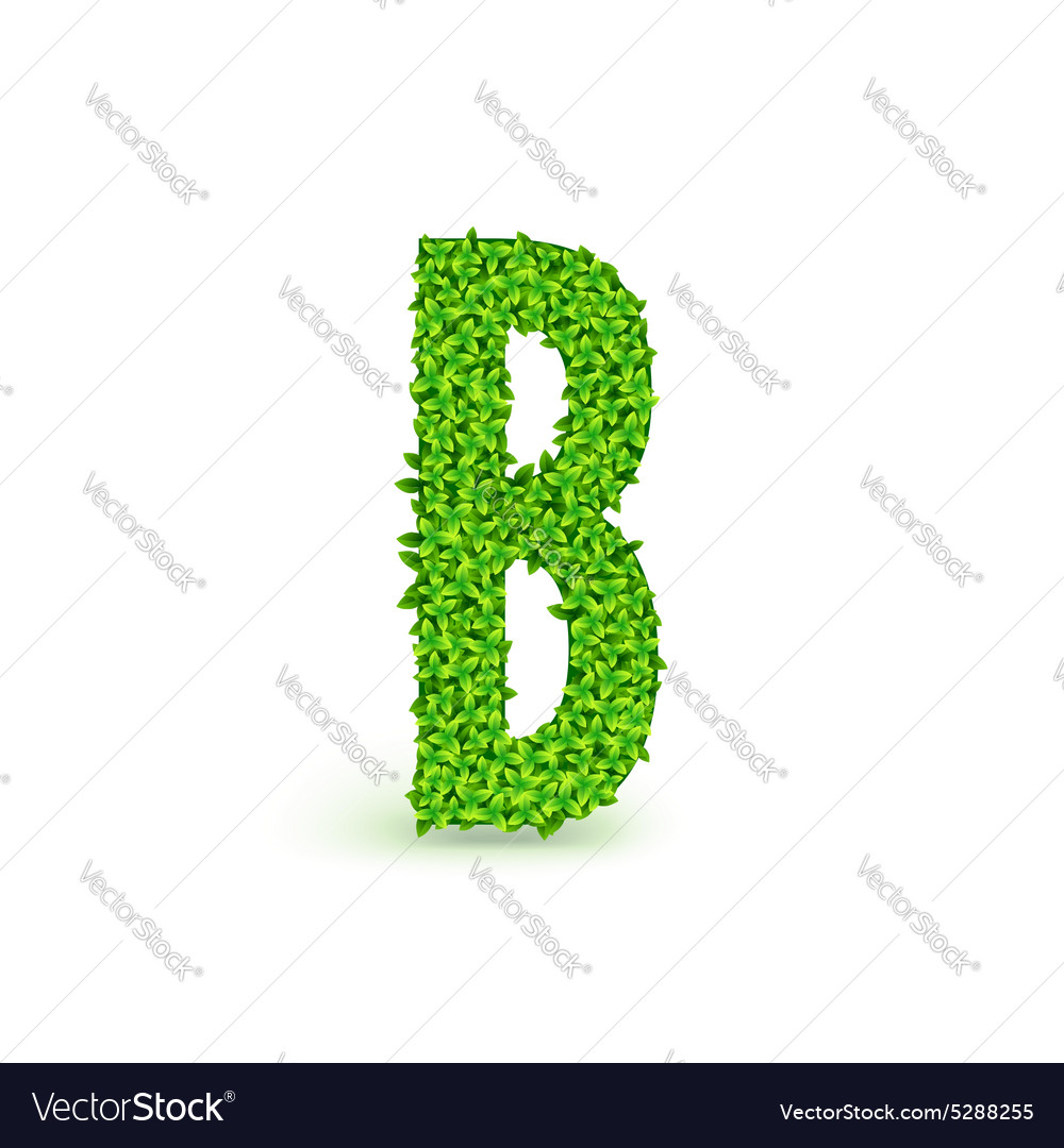 Green leaves font b vector