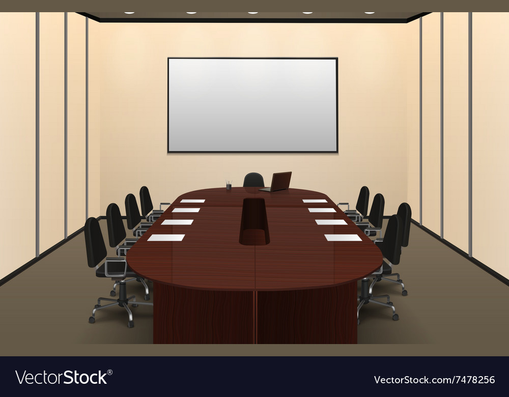 Conference room interior vector